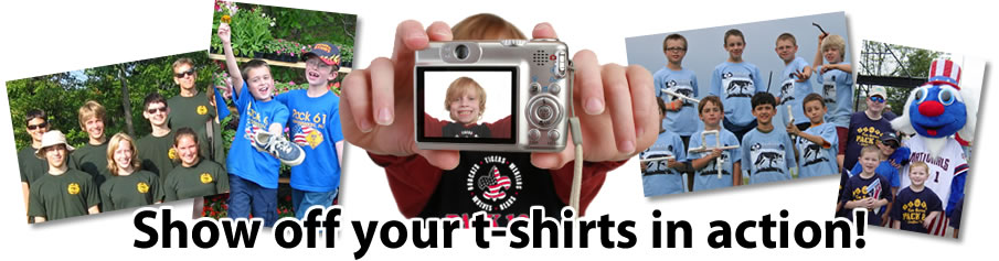 Show off your t-shirts in action!
