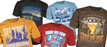 BSA summer camp custom t-shirts and gear