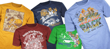 BSA council day camp for custom cub scouts t-shirts and cub scout pack gear